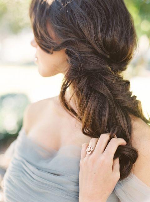 Elegant Half Up Bridal Hairstyle