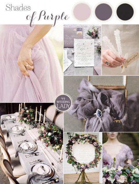 Pale Purple Ombre Wedding Ideas