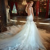 Epic Tulle Train Wedding Dress from Galia Lahav