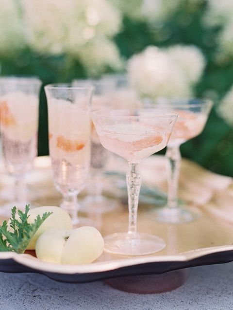 Summer Peach and Sparkling Rosé Cocktails