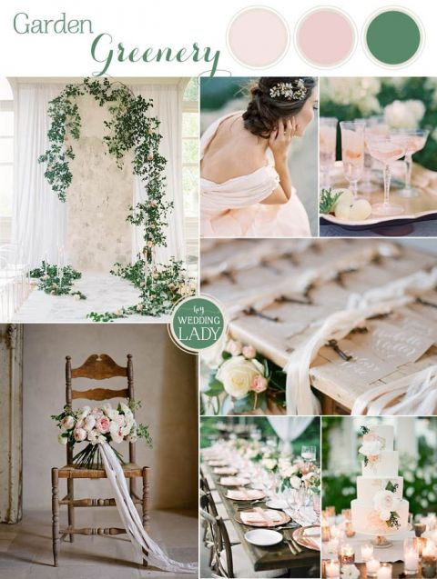 Emerald Green Wedding Ideas with Summer Peach