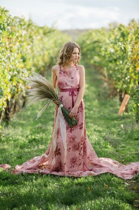 Farewell To Fall With Colorful Wedding Dresses Hey