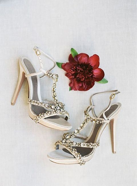 Embellished Silver Wedding Shoes
