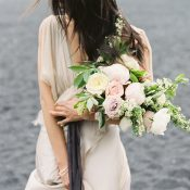 Romantic Neutral Wedding Style with Organic Flowers