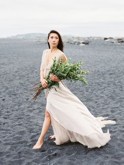 Ivory Beach Wedding Dress