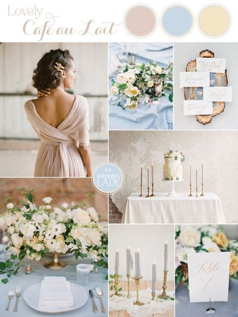 Dreamy Blue and Latte Wedding Palette