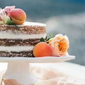 Peach and Apricot Naked Wedding Cake