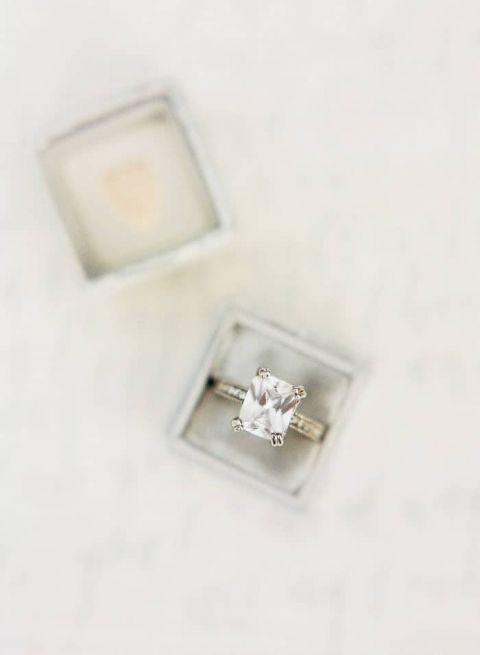 Vintage Emerald Cut Engagement Ring