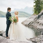 Summer Mountain Wedding Shoot in Banff