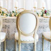 Vintage Glam Wedding Reception