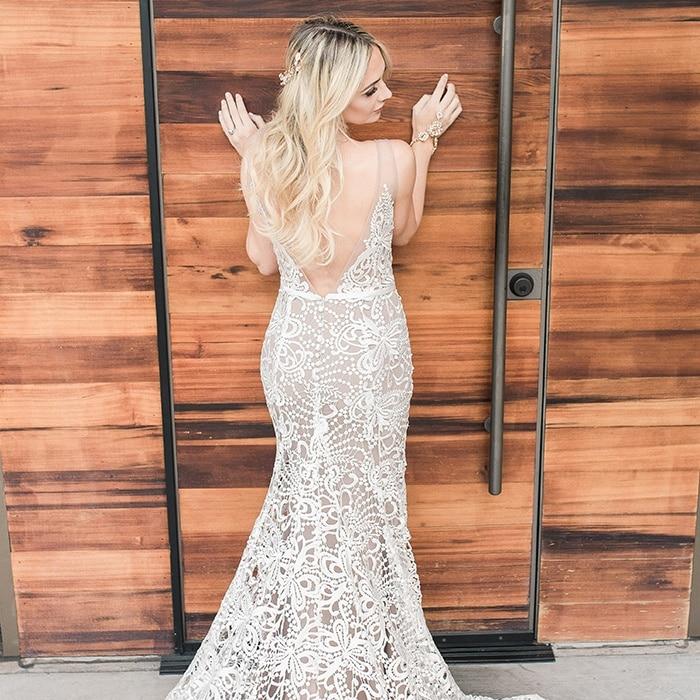 Wedding Dresses Nude 20 Unique  Modern Boho Wedding