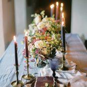 Lush Purple and Blue Wedding Decor