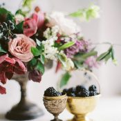 Plum Compote Centerpiece with Fresh Berries