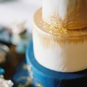 Gold Dusted Metallic Wedding Cake