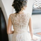 Artemis Champagne Beaded Wedding Dress