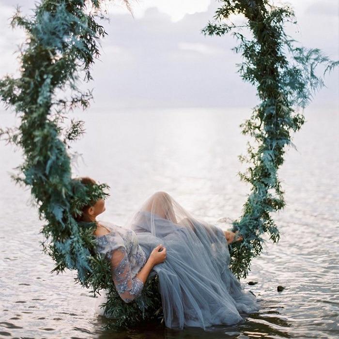 Winter Beach Wedding Ideas In Frost Blue Hey Wedding Lady