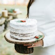 Rustic Woodland Winter Wedding Cake