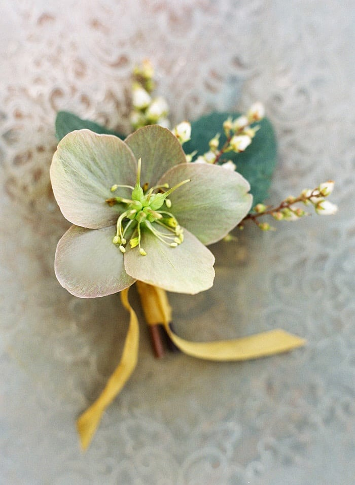 Simple Yellow Floral Boutonniere