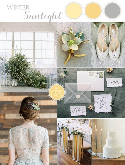 Winter Sunlight - Yellow and Gray Wedding Ideas - Hey Wedding Lady
