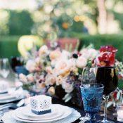 Dark and Dramatic Winery Wedding Flowers