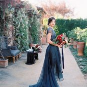 Midnight Blue Wedding Reception Dress