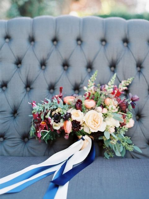 Colorful Autumn Bouquet for a Winery Wedding