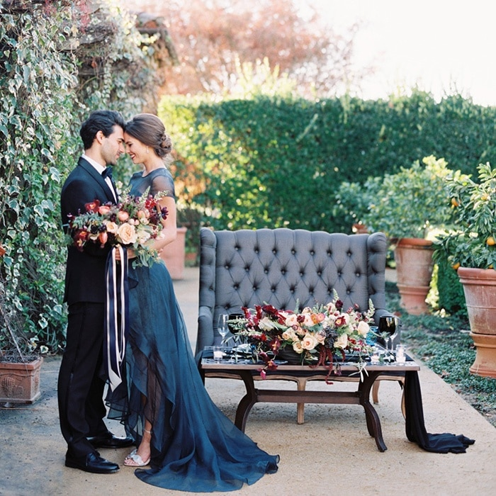 St Brides Real Estate: Jewel Tone Wedding In Wine Country