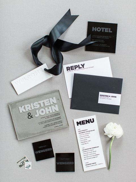 Bold and Modern Wedding Invitation Design