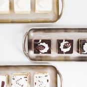 Picture Perfect Desserts on Silver Trays