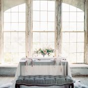 Ethereal Draped French Sweetheart Table