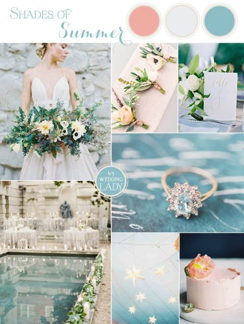 Turquoise Summer Wedding Ideas with Pops of Peach