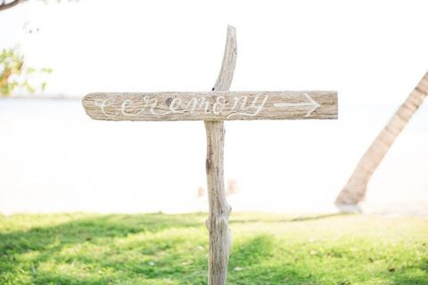 Calligraphy Driftwood Ceremony Sign