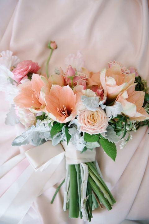 Peach and Pastel Pink Bouquet