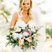 Peach and Sage Green Bouquet