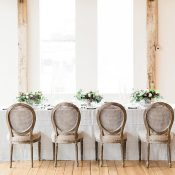 Ethereal Gray Wedding Reception