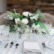 Rustic Industrial Wedding Flowers and Decor
