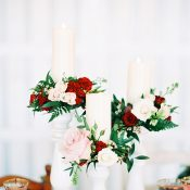 Candlesticks with Floral Wreaths