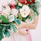 Crimson Charm Peony and Protea Bouquet
