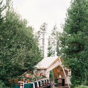 Cozy Woodland Wedding with a Bohemian Tent