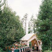 Cozy Woodland Wedding with a Bohemian Tent