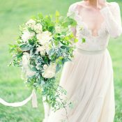 Summer Greenery Bridal Shoot at a Virginia Winery