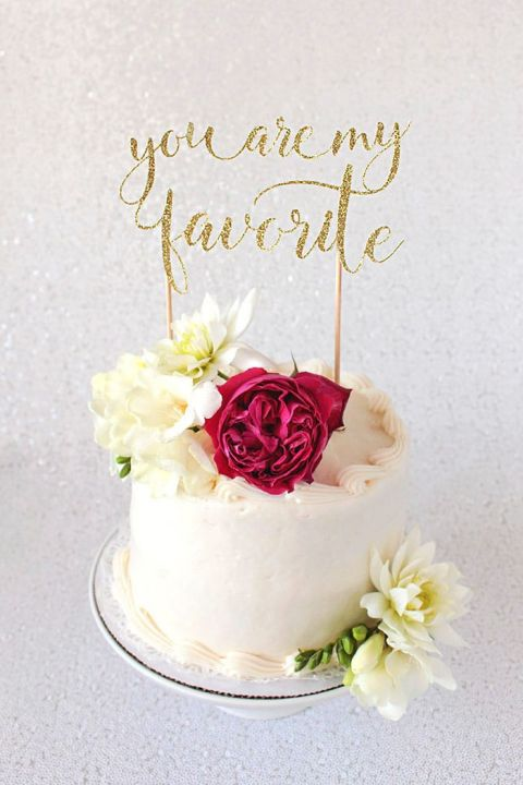 Diy cake topper tutorial with cricut hey wedding lady you are my favorite wedding cake topper junglespirit Choice Image