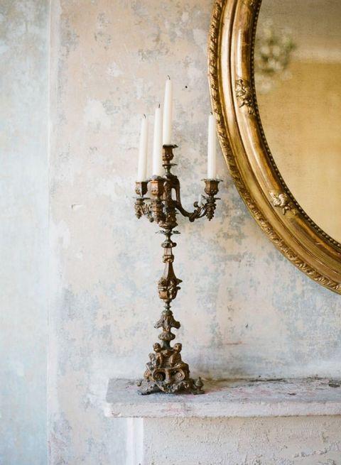 Vintage French Chateau Wedding Decor