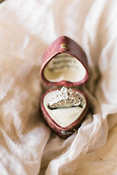 Rose Ring Box For Engagement