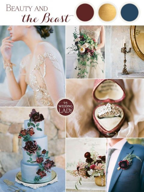 Beautiful Old World Glamour Beauty And The Beast Wedding Ideas