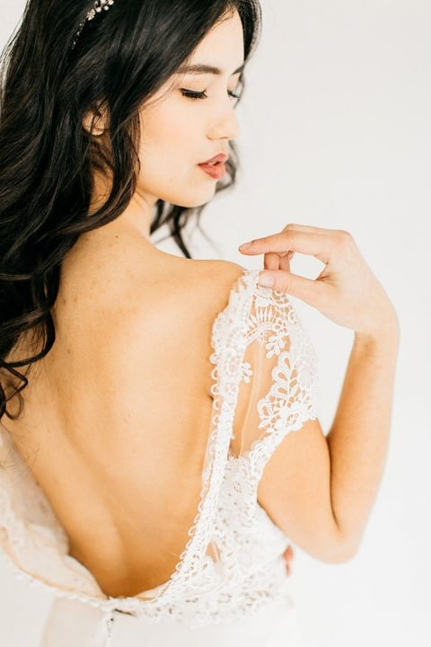 Lace Open Back Bridal Separates
