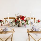 Simple and Colorful Wedding Table Decor