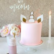 Gold Glitter and Pastel Rainbow Unicorn Bridal Shower Decor
