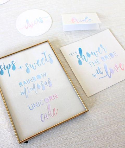 Cricut Wedding Invitations 72 Awesome Pastel Rainbow Unicorn Party