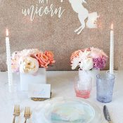 Pastel Rainbow Bridal Shower with a DIY Glitter Banner